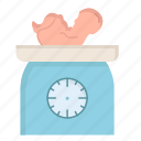 baby, born, kid, mother, new, scales, weight icon