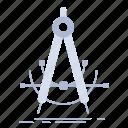 accure, compass, geometry, measurement, precision icon
