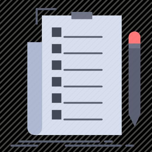 check, checklist, document, expertise, list icon