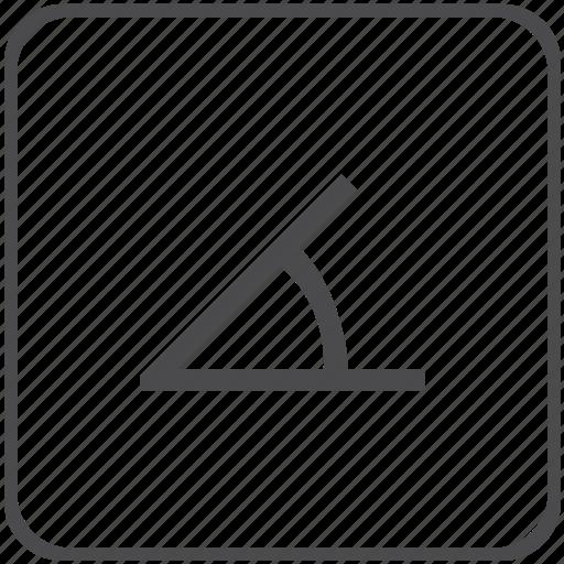 angle, geometry, measure, scale icon