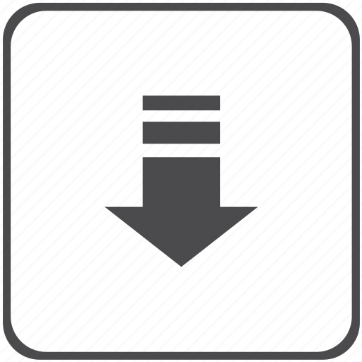 arrow, down, download, upload icon