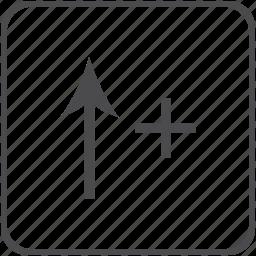 arrow, enlarge, icrease icon