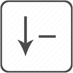 arrow, decrease, direction, reduce icon