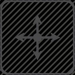 arrows, axis, coordinates, location, navigation icon
