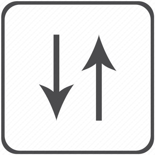 arrows, direction, vectors icon