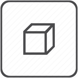 capacity, cube, geometry, shape, solid, stereometry, volume icon
