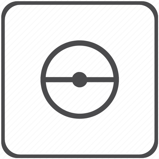 diameter, geometry icon