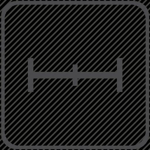 distance, horizontal icon