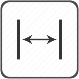 distance, horizontal, space icon