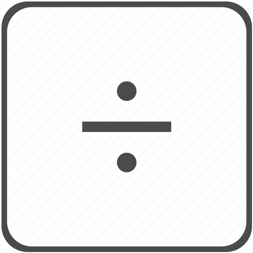 division, math icon