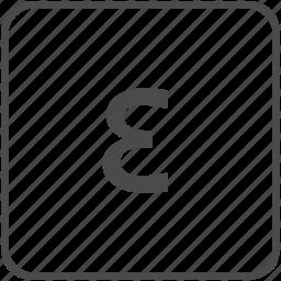 epsilon, math, permittivity, physics, strain icon