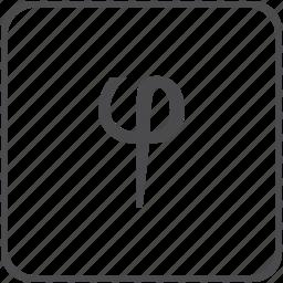 constant, geometry, golden, phi, ratio icon