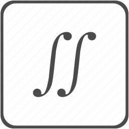 indefinite, integral, math, mathematical icon
