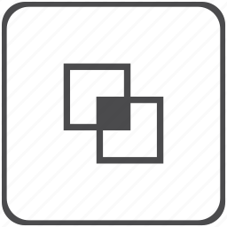 geometry, intersection, square icon