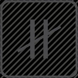 geometry, no, parallel icon