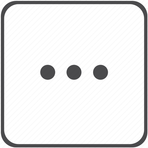 dots, menu, omission, space icon