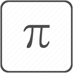 constant, geometry, pi icon