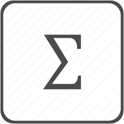 amount, calculation, greek, math, sigma, sum, summation icon