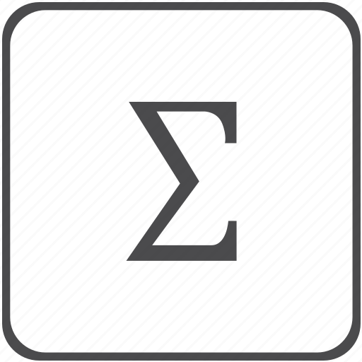 Amount Calculation Greek Math Sigma Sum Summation Icon