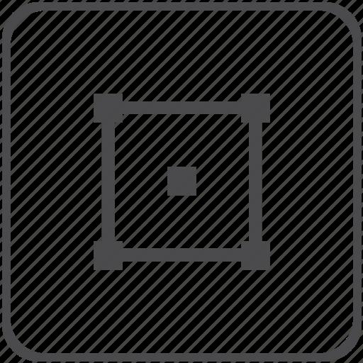 curve, shape, square icon