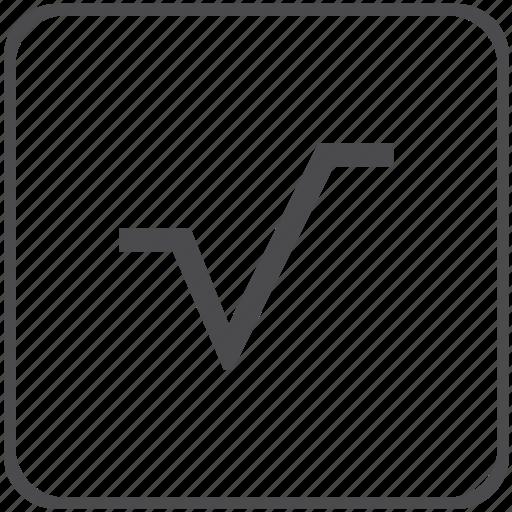 calculate, math, mathematics, root, square icon