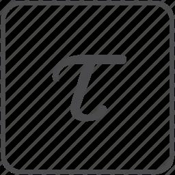 electricity, energy, physics, tau, torque icon