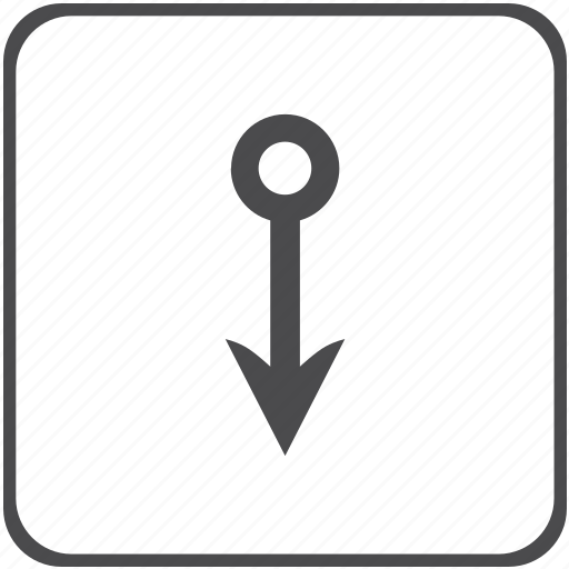 arrow, down, upload icon