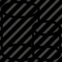 cylinder, cylinders, volume, volumetrical, volumetric icon