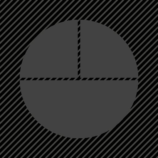 circle, compass, fractions, geometry, mathematics, maths, shape icon