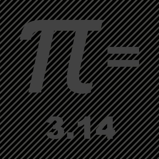 equation, formula, geometry, math, number, pi, value icon