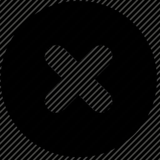 calculator, circle, cross, multiplication, symbols, wrong icon