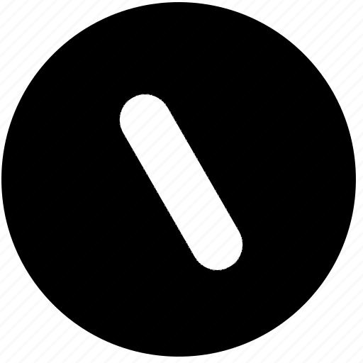 calculator, circle, line, math, signs, slash, symbols icon