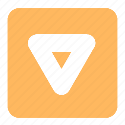 arrow, orange, pointer, signs, square, symbols, triangle icon