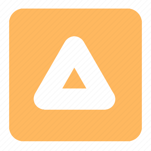 arrow, math, orange, shapes, signs, symbols, triangle icon