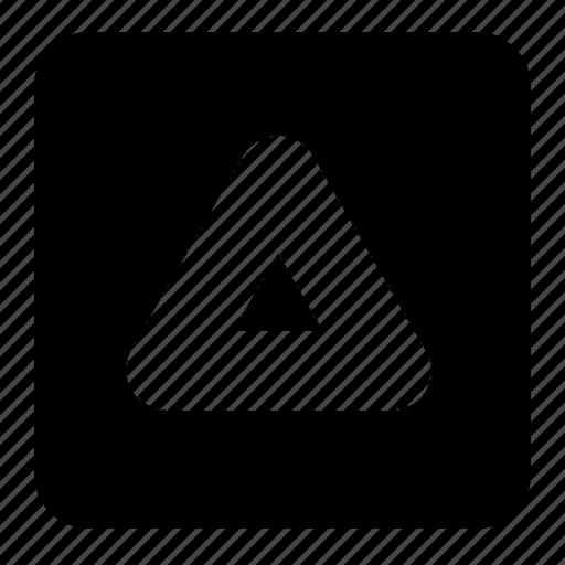 arrow, math, shapes, signs, square, symbols, triangle icon