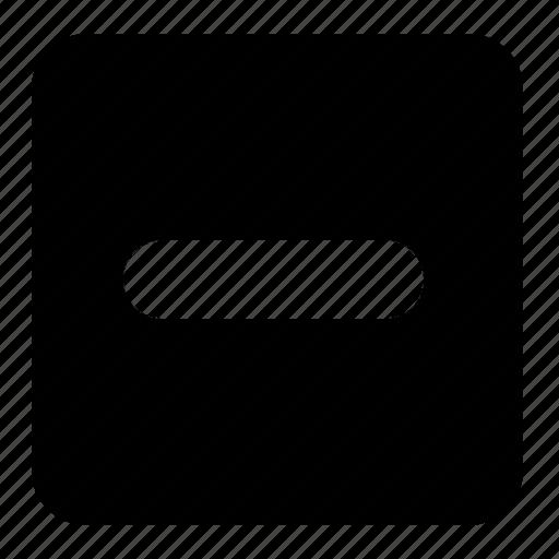 calculator, minus, minus sign, shapes, signs, square, symbols icon