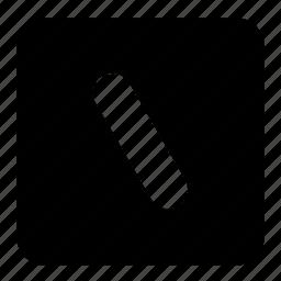 box, lines, shapes, signs, slash, square, symbols icon