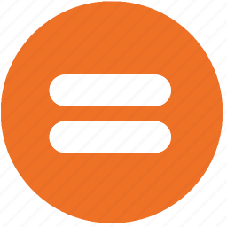 calculation, equal, equal sign, math, mathematics, orange icon