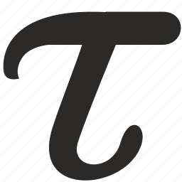 alphabet, greek, letter, tau icon