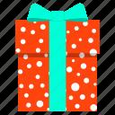birthday, box, celebration, christmas, gift, polka dot, present