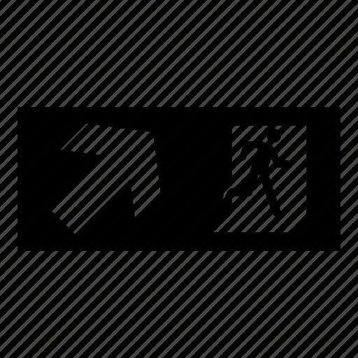 Direction, door, emergency, evacuation, exit, sign icon - Download on Iconfinder
