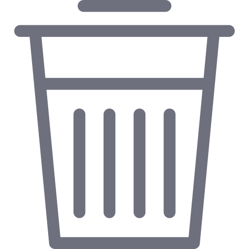 basket, delete, garbage, trash, waste icon