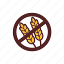 food, gluten free, meal icon