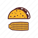 burrito, corn, fast food, meal, mexican, tacos, tortilla icon