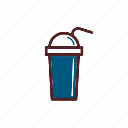 cold, drink, meal, take away icon