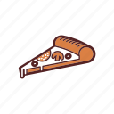 cheese, fast food, italian, meal, mushroom, pizza, salami icon