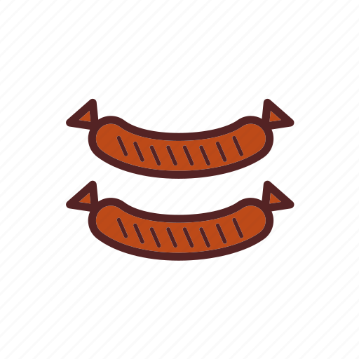 fast food, food, grilled, meal, sausages icon