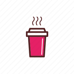 coffee, drink, hot, meal, take away, tea icon