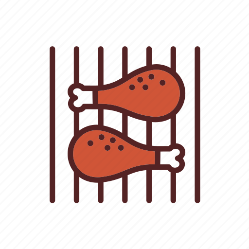 barbecue, chicken, food, grilled, legs, meal, meat icon