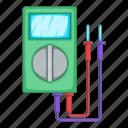 multimeter, voltage, voltage meter, voltmeter icon